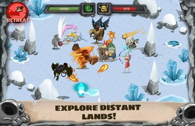 Écrans du jeu Monster Village – Angry Monsters pour iPhone, iPad ou iPod.