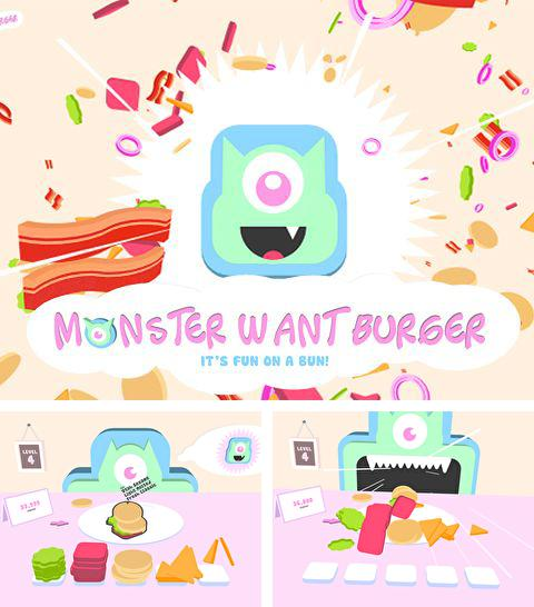 Kostenloses iPhone-Game Monster will Burger See herunterladen.