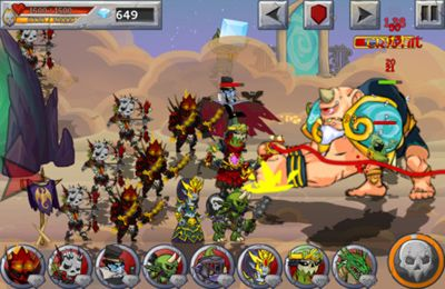 Screenshots do jogo Monster Wars para iPhone, iPad ou iPod.