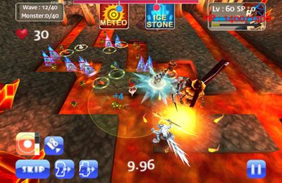 Écrans du jeu MonsterDefense 3D pour iPhone, iPad ou iPod.