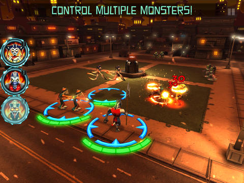 Screenshots vom Spiel Monsters Rising für iPhone, iPad oder iPod.