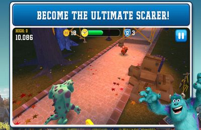 Screenshots of the Monsters University game for iPhone, iPad or iPod.