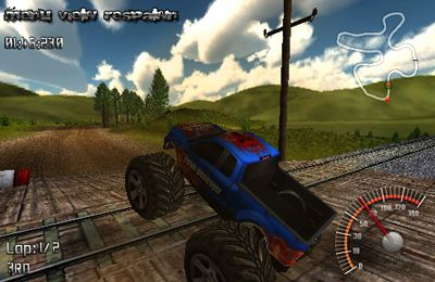 Screenshots of the MonsterTruck Rally game for iPhone, iPad or iPod.