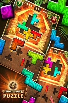 Screenshots of the Montezuma Puzzle game for iPhone, iPad or iPod.