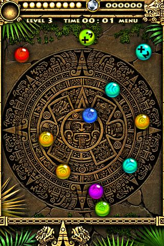 Screenshots of the Montezuma stones game for iPhone, iPad or iPod.