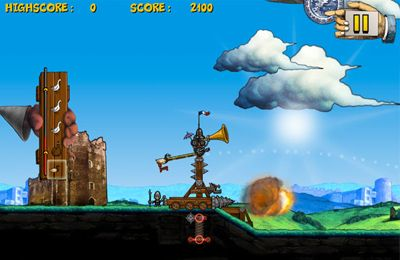 Capturas de pantalla del juego Monty Python's Cow Tossing para iPhone, iPad o iPod.