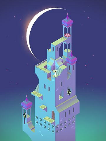 Screenshots do jogo Monument valley para iPhone, iPad ou iPod.