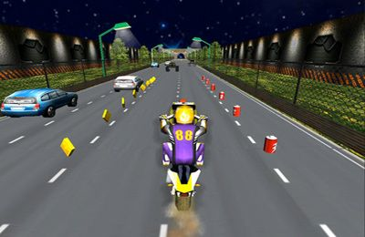 Screenshots vom Spiel Moto Madness - 3d Motor Bike Stunt Racing Game für iPhone, iPad oder iPod.