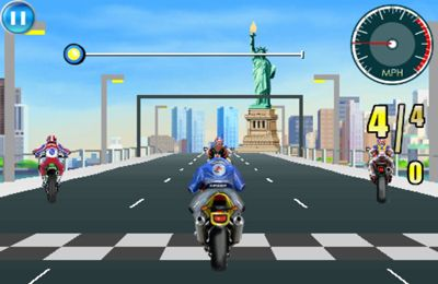 Download Moto Racing Fever iPhone free game.