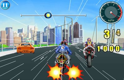 Screenshots of the Moto Racing Fever game for iPhone, iPad or iPod.