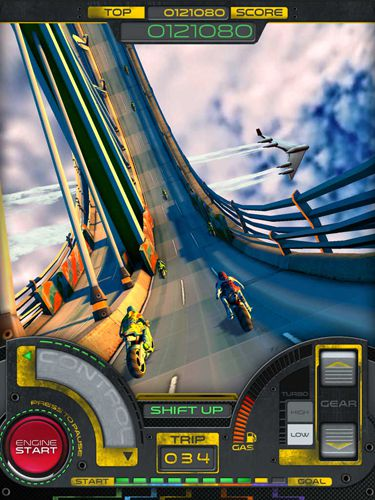 Capturas de pantalla del juego Moto RKD dash para iPhone, iPad o iPod.
