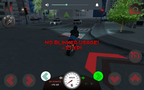 Capturas de pantalla del juego Motorcycle driving 3D para iPhone, iPad o iPod.