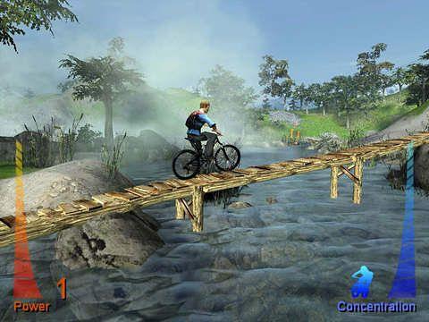 Écrans du jeu Mountain bike extreme show pour iPhone, iPad ou iPod.