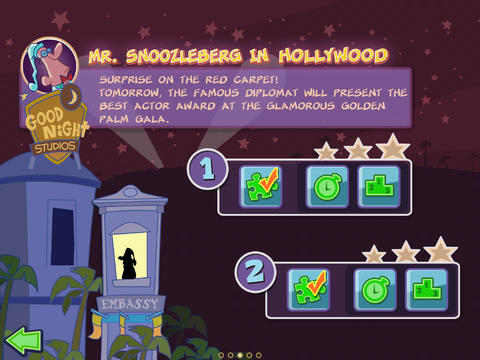 Capturas de pantalla del juego Mr Snoozleberg para iPhone, iPad o iPod.