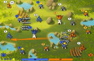 Capturas de pantalla del juego Mushroom Wars para iPhone, iPad o iPod.