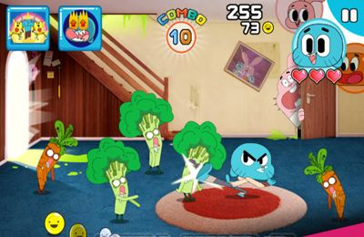 Screenshots vom Spiel Mutant Fridge Mayhem – Gumball für iPhone, iPad oder iPod.