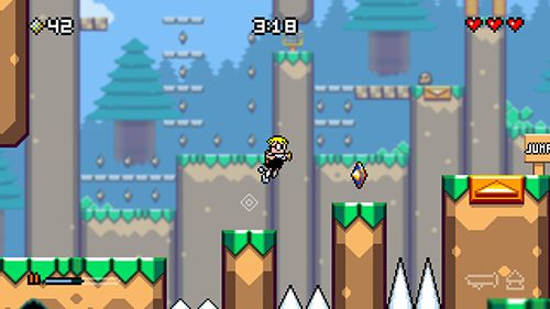 Screenshots of the Mutant mudds game for iPhone, iPad or iPod.