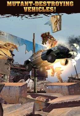 Screenshots of the Mutant Roadkill game for iPhone, iPad or iPod.
