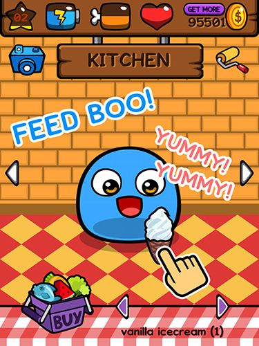 Screenshots of the My Boo game for iPhone, iPad or iPod.