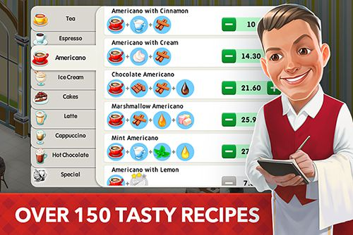 Screenshots vom Spiel My cafe: Recipes and stories für iPhone, iPad oder iPod.