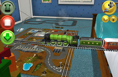 Screenshots of the My First Trainz Set game for iPhone, iPad or iPod.