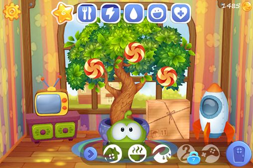 Screenshots of the My Om Nom game for iPhone, iPad or iPod.