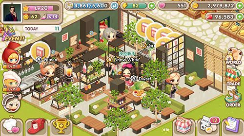 Écrans du jeu My Secret Bistro pour iPhone, iPad ou iPod.