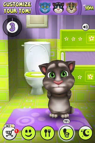 Descarga gratuita de My talking Tom para iPhone, iPad y iPod.