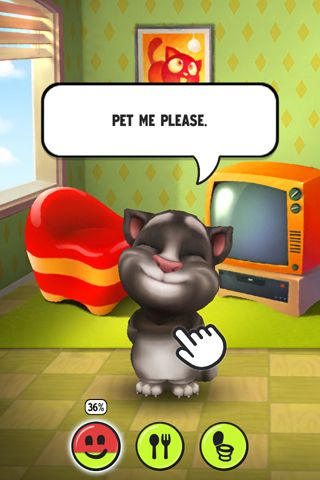 Capturas de pantalla del juego My talking Tom para iPhone, iPad o iPod.