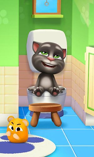 Screenshots of the My talking Tom 2 game for iPhone, iPad or iPod.