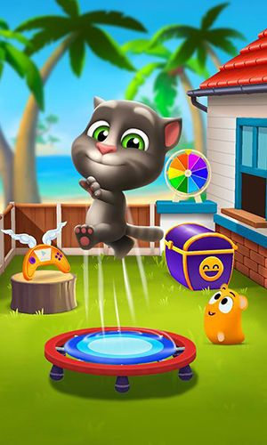 Écrans du jeu My talking Tom 2 pour iPhone, iPad ou iPod.