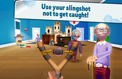 Screenshots of the Naughty Boy – Sling and shoot game for iPhone, iPad or iPod.