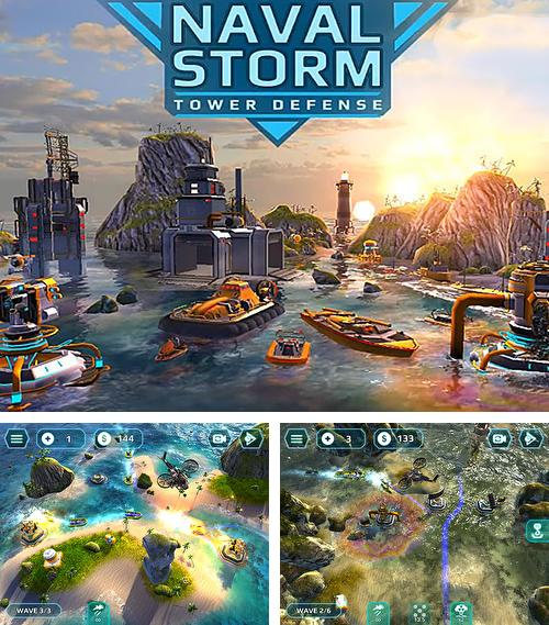 In addition to the game Treasure defense for iPhone, iPad or iPod, you can also download Naval storm TD for free.