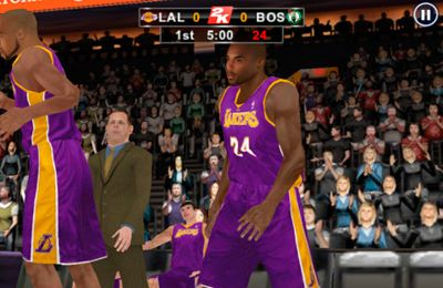 Screenshots do jogo NBA 2K12 para iPhone, iPad ou iPod.