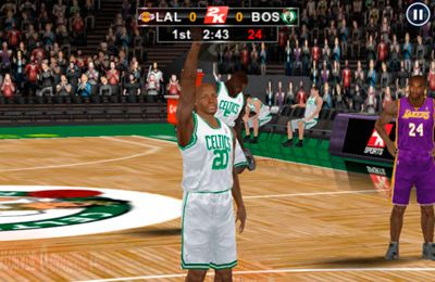 Capturas de pantalla del juego NBA 2K12 para iPhone, iPad o iPod.