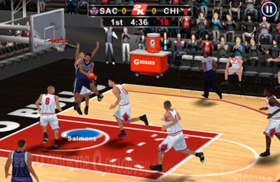 Screenshots of the NBA 2K12 game for iPhone, iPad or iPod.