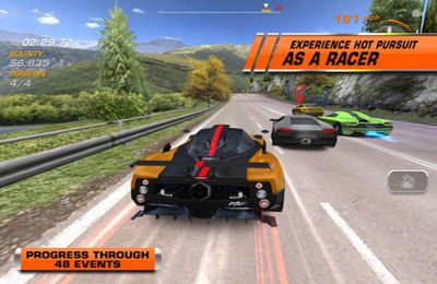 Screenshots vom Spiel Need for Speed: Hot Pursuit für iPhone, iPad oder iPod.