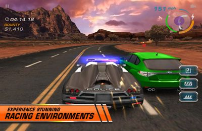 Écrans du jeu Need for Speed: Hot Pursuit pour iPhone, iPad ou iPod.