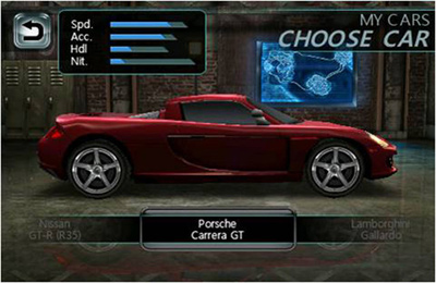 iPhone、iPad 或 iPod 版Need For Speed Undercover游戏截图。