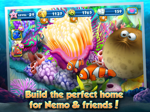 Screenshots of the Nemo's Reef game for iPhone, iPad or iPod.