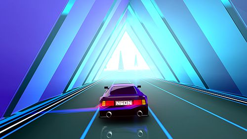 Screenshots do jogo Neon drive para iPhone, iPad ou iPod.