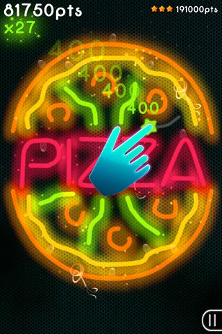 Screenshots of the Neon mania game for iPhone, iPad or iPod.