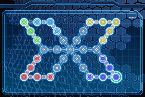 Download Neon snake iPhone free game.