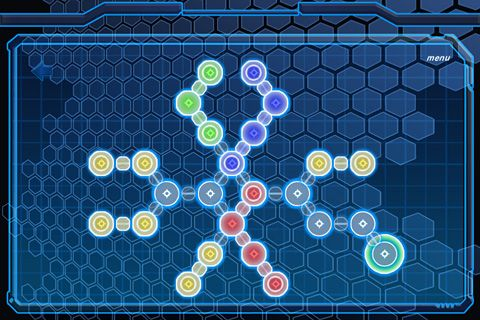 Screenshots of the Neon snake game for iPhone, iPad or iPod.