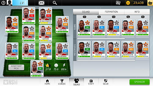 Screenshots vom Spiel New star manager für iPhone, iPad oder iPod.