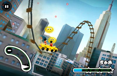 iPhone、iPad および iPod 用のNew York 3D Rollercoaster Rushの無料ダウンロード。