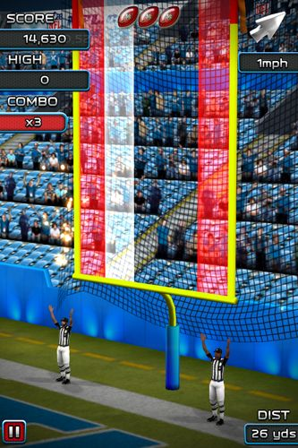 Capturas de pantalla del juego NFL Kicker 15 para iPhone, iPad o iPod.