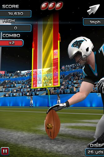 Screenshots of the NFL Kicker 15 game for iPhone, iPad or iPod.