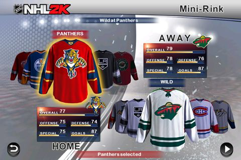 Free NHL 2K download for iPhone, iPad and iPod.