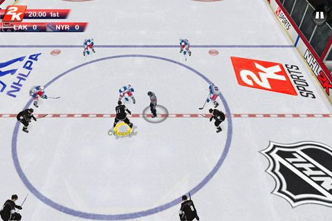 Screenshots of the NHL 2K game for iPhone, iPad or iPod.